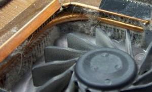 Замърсен радиатор на лаптоп