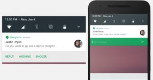 функция direct repplay в Android N